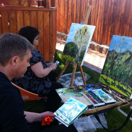 Painting session at Seven boutique villa