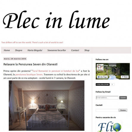 "Seven boutique villa on the travel blog ""Plec in lume"""
